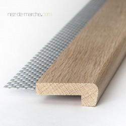 Nez de marche Chêne (20cm-90cm) 60x22mm avec grille