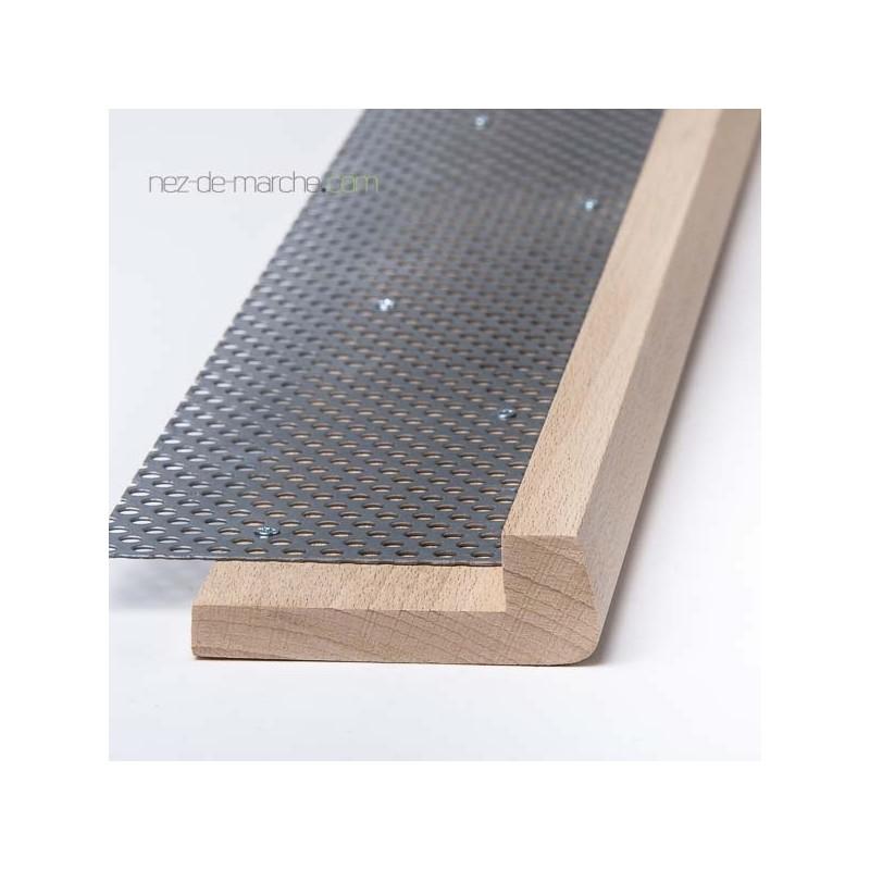 nez de marche en h tre 85x28mm avec grille. Black Bedroom Furniture Sets. Home Design Ideas