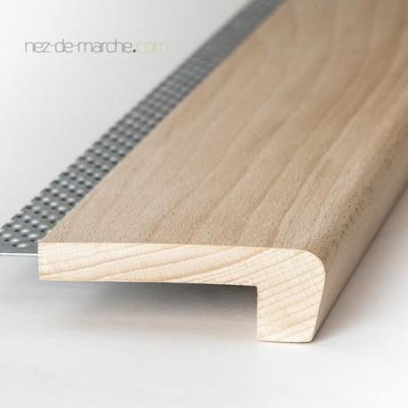 Nez de marche Hêtre 85x28mm avec grille (classique)