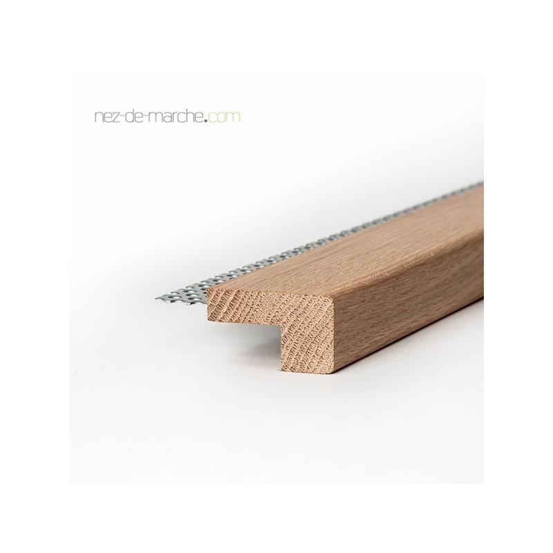 2 x 1 m Aluminium anodis/é for/é 33 mm de largeur Stratifi/é//Parquet-Nez de marche // corni/ère pour escaliers couleur: argent 13,3 mm de haut 2 m/ètres