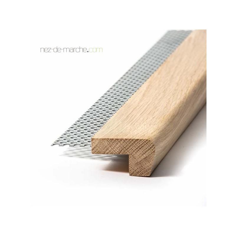 Nez de marche bois pour escalier r nover avec carrelage for Carrelage avec nez de marche