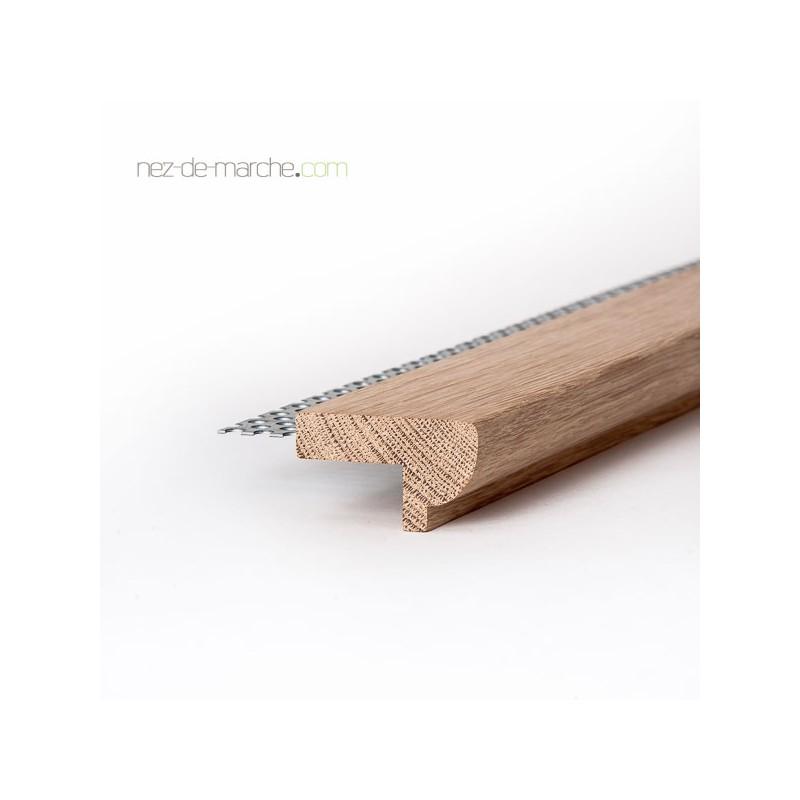 Nez de marche bois pour escalier r nover avec carrelage for Nez de marche carrelage