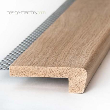 Nez de marche Chêne 85x28mm avec grille (classique)