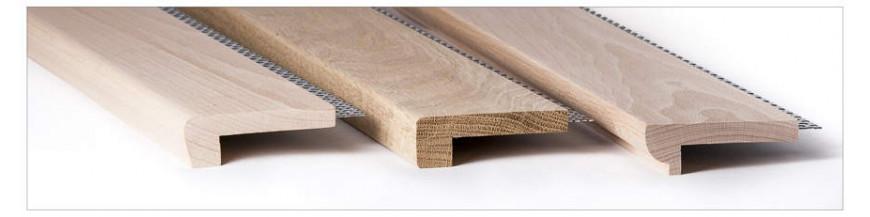 Nez de marche en bois massif grande largeur pour votre for Escalier escamotable grande largeur