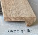 Nez de marche en bois 85x28mm avec grille Style