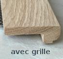 Nez de marche bois 85x28mm avec grille Tradition
